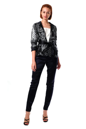 Jeanette 2-Way Silk Blazer