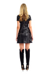 Vivi Leather Studded Skirt