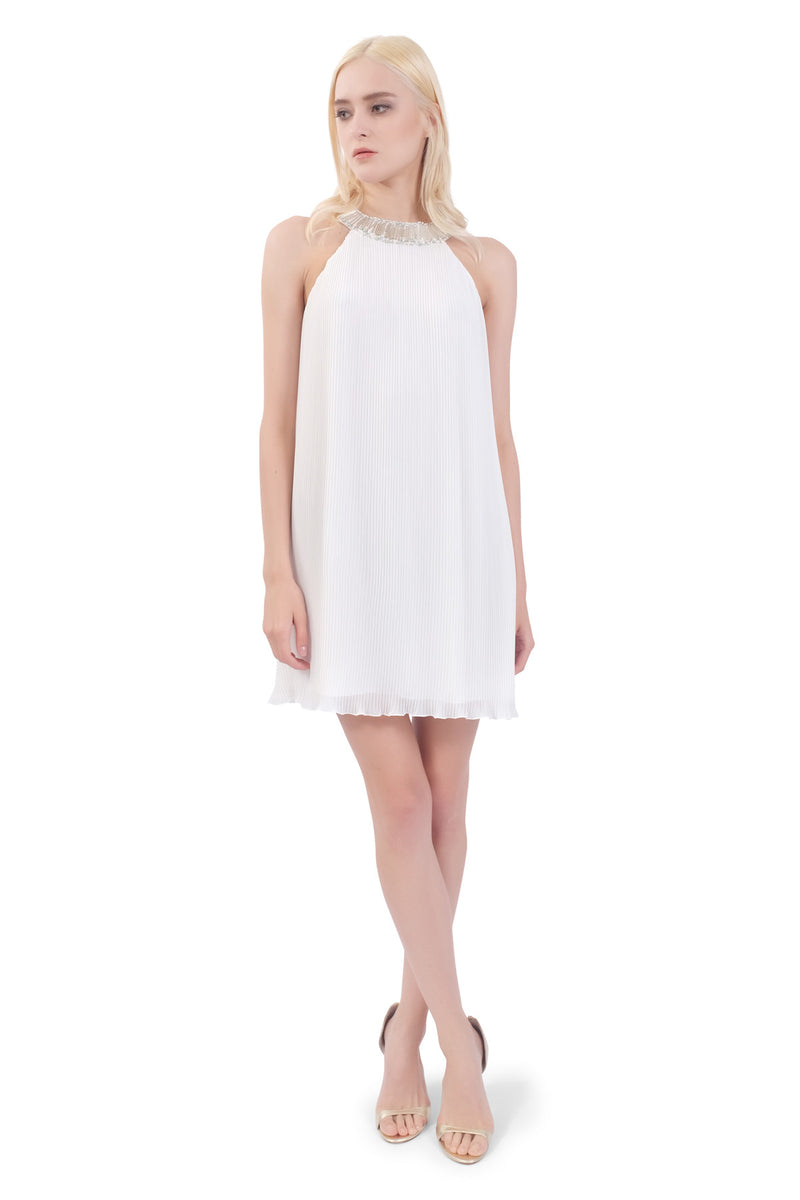 Lin Chiffon Pleated Dress