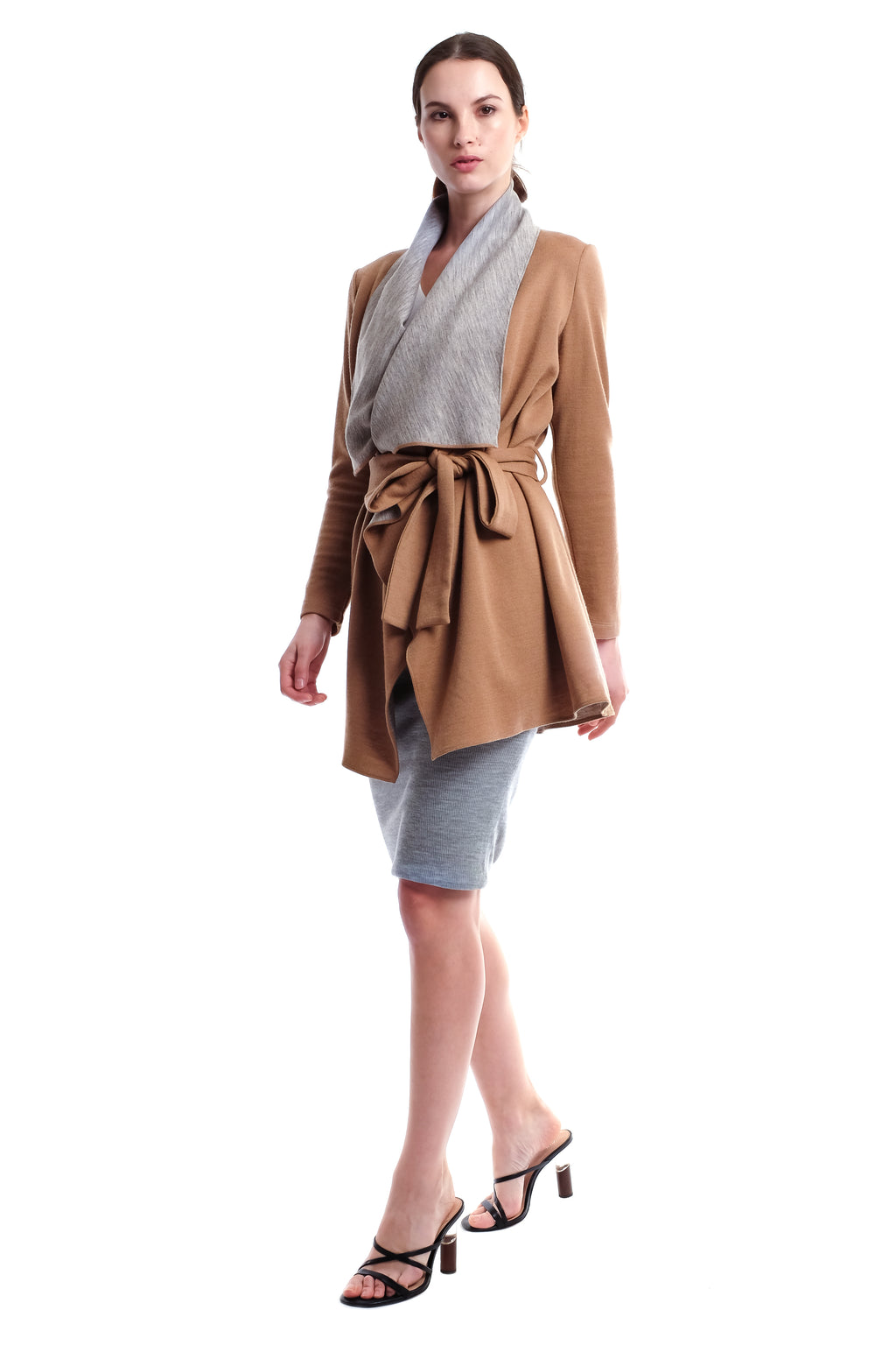 Amika Two-Way Wool Jacket (Long)