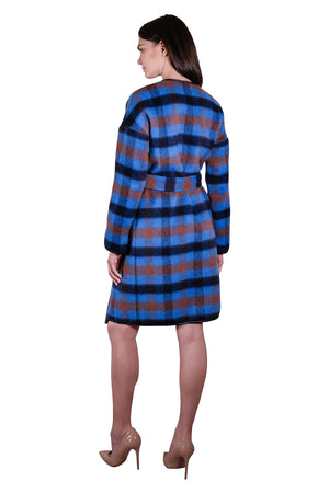 Monaco II Wool Checkered Coat