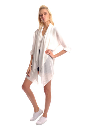 Emmi Micro Pleated Cardigan (Long)