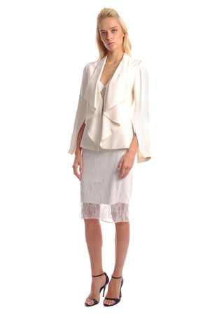 Megan Silk Flare Sleeves Blazer