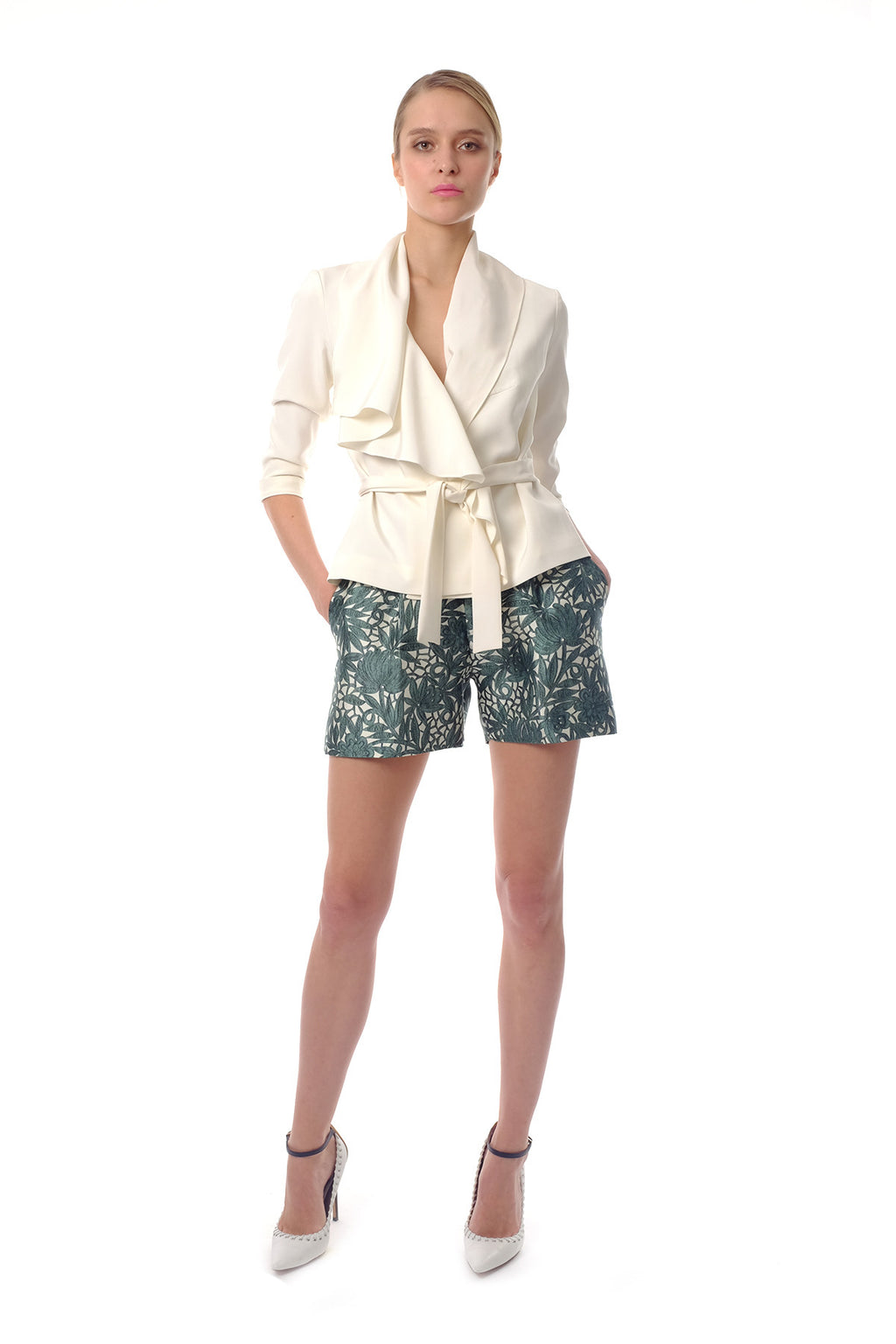 Ashley Silk Crepe Jacket