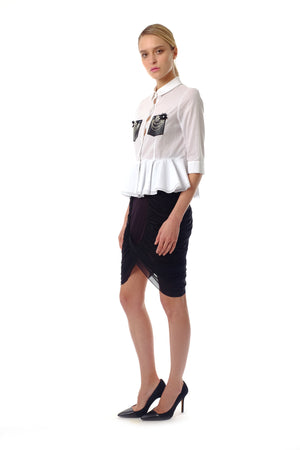 Alexis Jersey Drapery Skirt