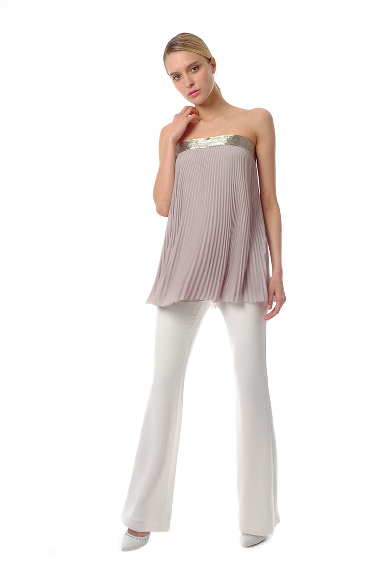 Oliva Chiffon Pleated Top