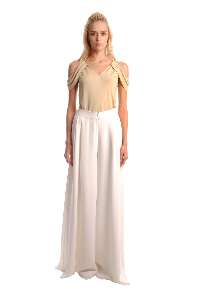 Moxia Drape Shoulder Jersey Top