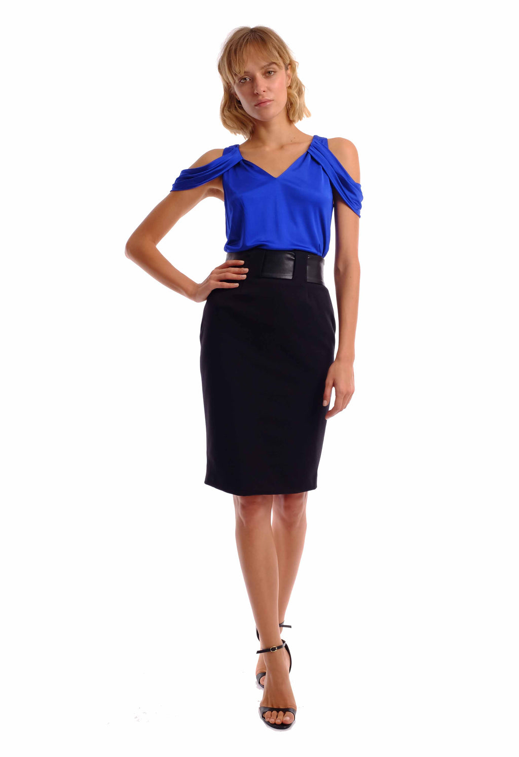 Rach Leather Belt Skirt