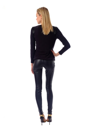 Fonda Leather Pants
