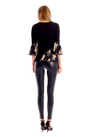 Kayla Zippers Leather Pants