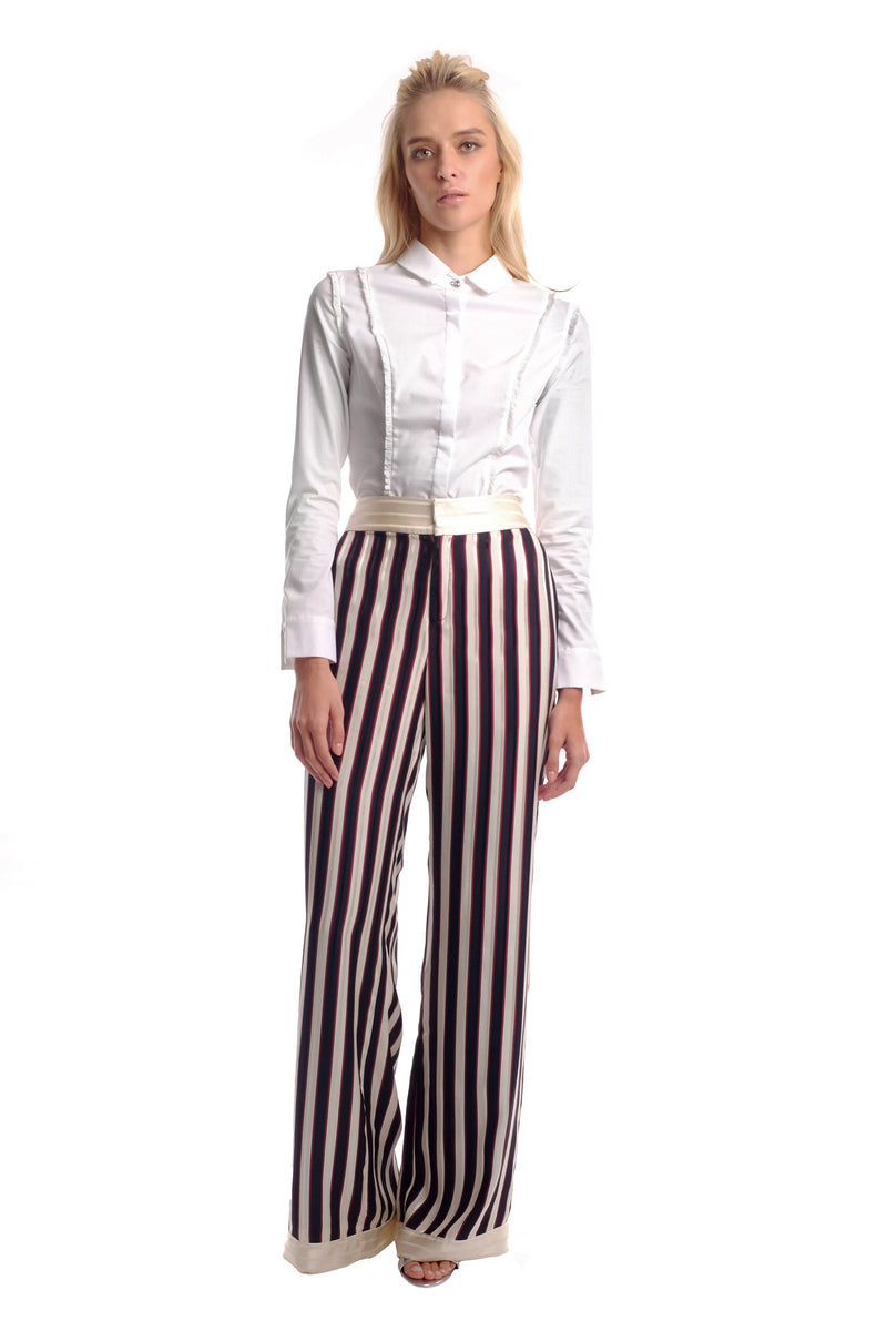 Amani Silk Print Trousers