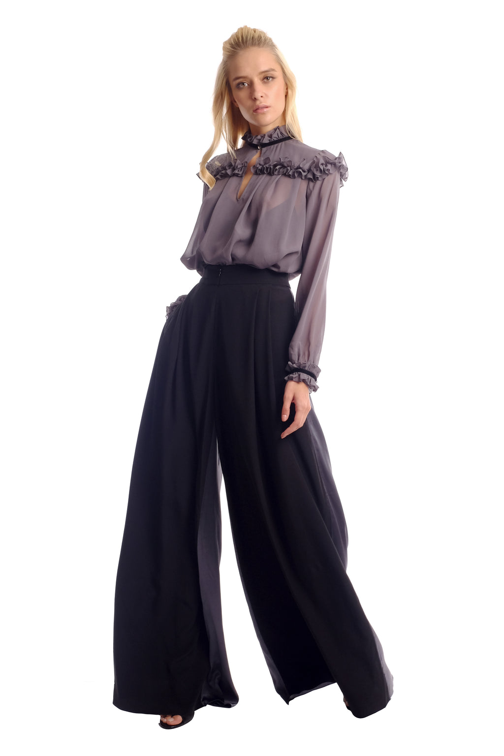 Sola 2-faced Flare Trousers