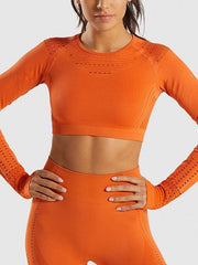 Women's Back In Action Long-sleeve Sports Top