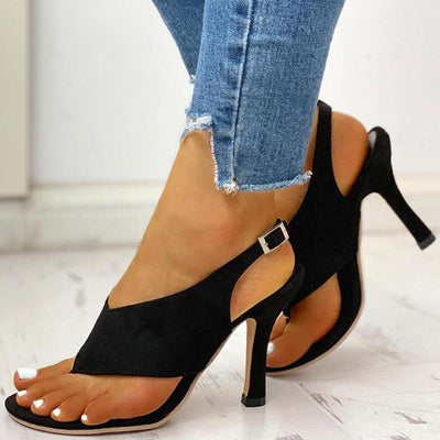 Toe Post Slingback Thin Heeled Sandals for Women