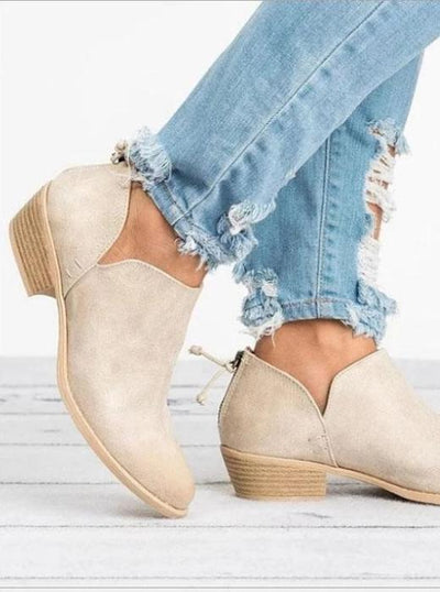 Women Boots Chunky Heel Casual Daily Shoes