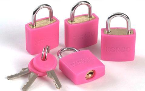 4 Pack Colourful Locks