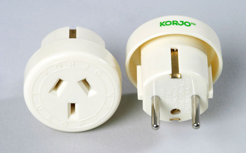 Single Country Adaptor - Korjo Europe Plug