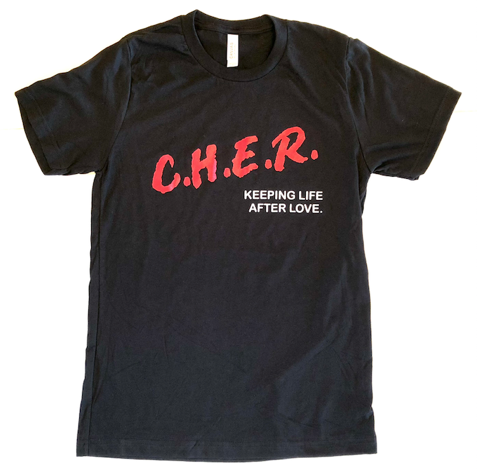 C.H.E.R. Keeping Life After Love black tee shirt