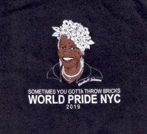 MARSHA P. JOHNSON WORLD PRIDE NYC TEE SHIRT