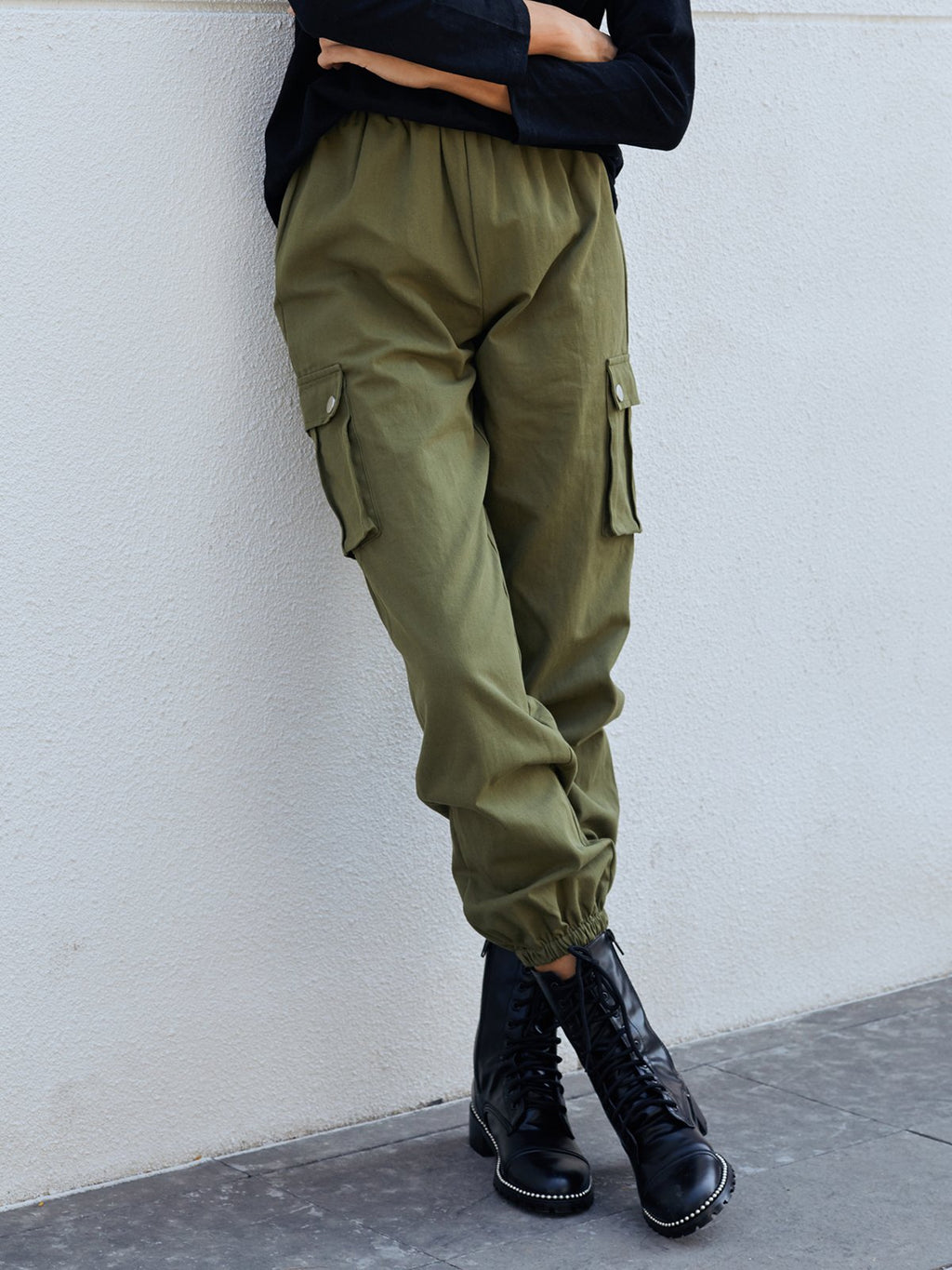 Army Green Shift Pants
