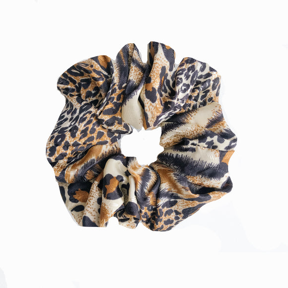 Leo-Tiger Print Scrunchie