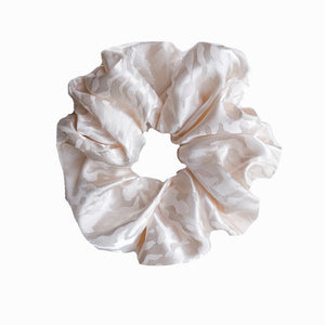 Cream Zebra Print Satin Sleep Scrunchie