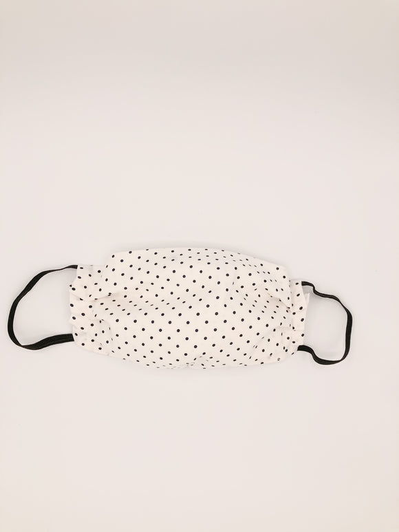 Black & White Polka Dot NON MEDICAL Face Mask