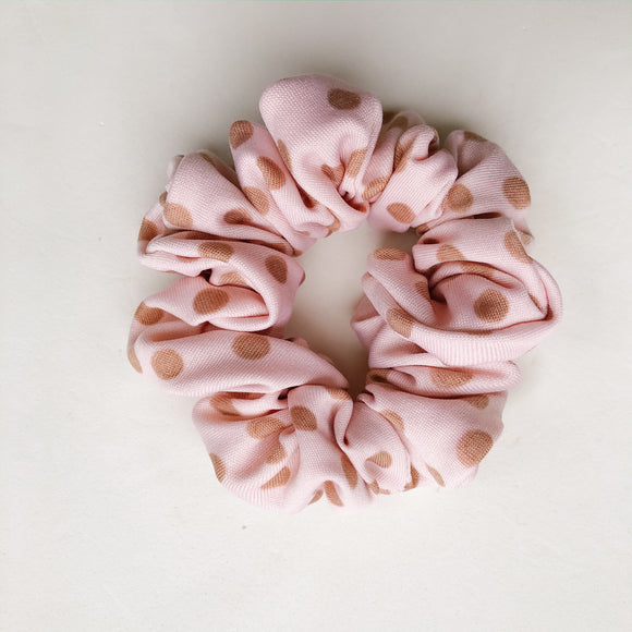Toddler Pink Polka Dot Scrunchie