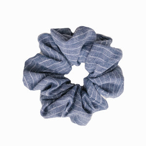 French Linen Striped Scrunchie