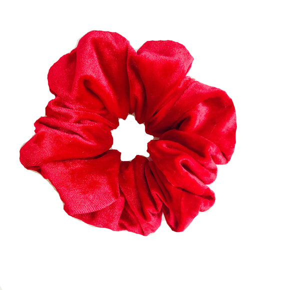 Ruby Red Velvet Scrunchie