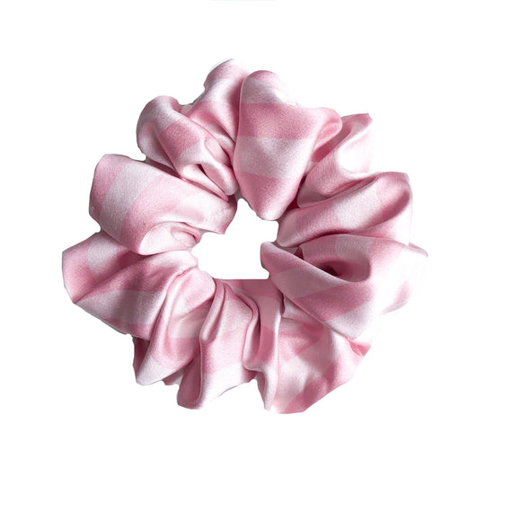 Pink & Cream Satin Sleep Scrunchie