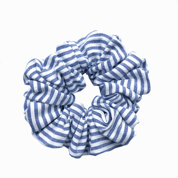 Nautical Stripe Cotton Scrunchie