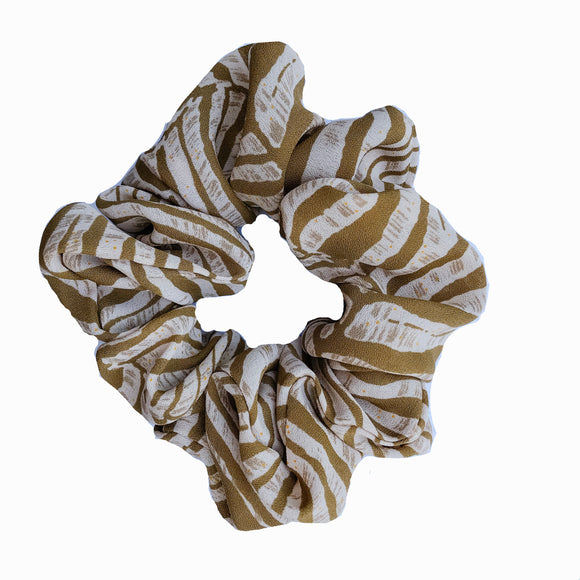 Tiger Print Scrunchie