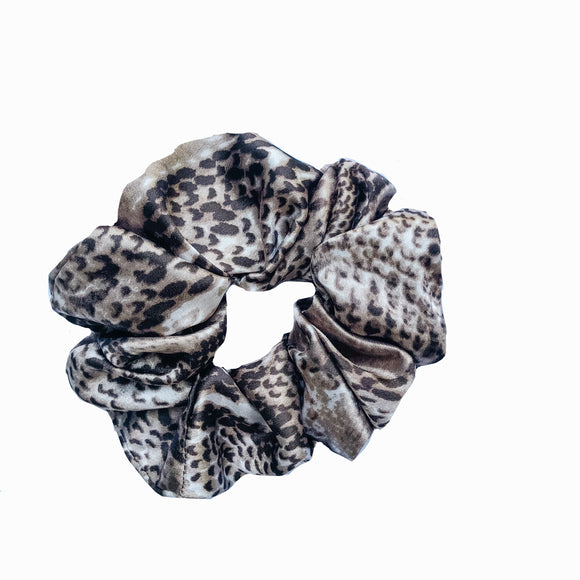 Snakeskin Satin Sleep Scrunchie