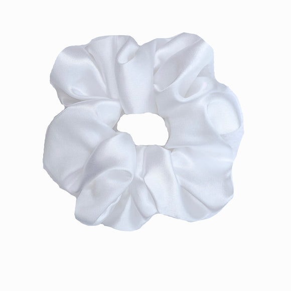White Satin Sleep Scrunchie