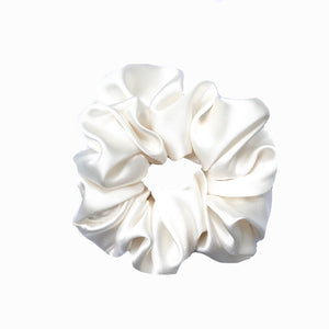 Cream Mulberry Silk Scrunchie