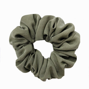 Army Green Cotton Scrunchie