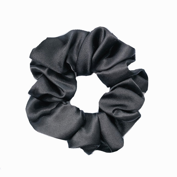 Black Satin Sleep Scrunchie