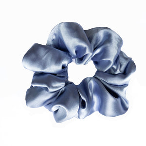 Amalfi Blue Satin Scrunchie