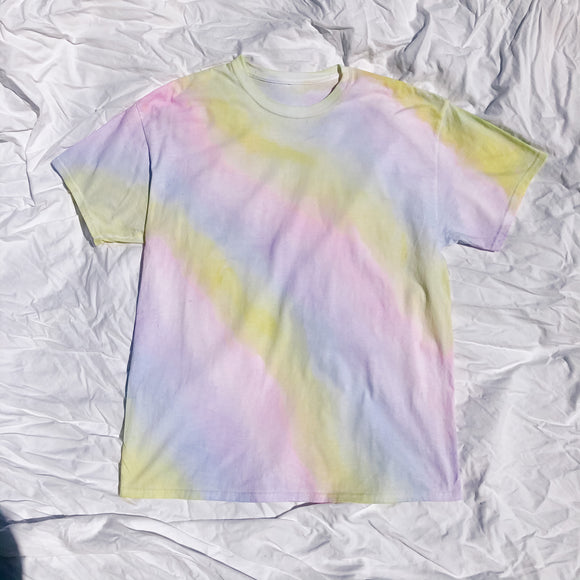 Rainbow Water Colour Oversized T-shirt