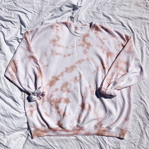 Tan Oversized Tie Dye Sweatshirt