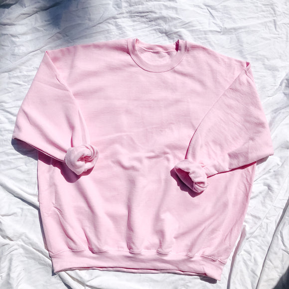 Bubble Gum Pink Oversized Crewneck