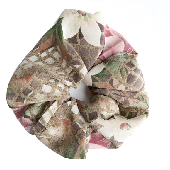 Silk Art Deco Python Scrunchie
