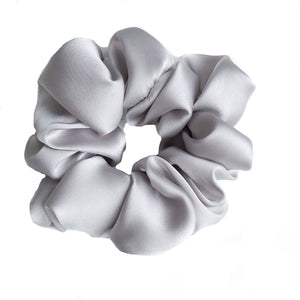 Silver Silk Sleep Scrunchie