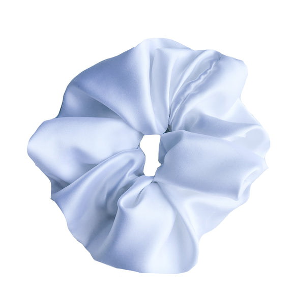 XXL White Satin Scrunchie