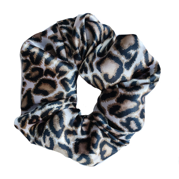 XXL Leopard Satin Scrunchie