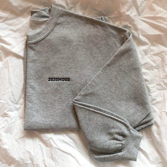 Grey Oversized 2020MOOD Crewneck