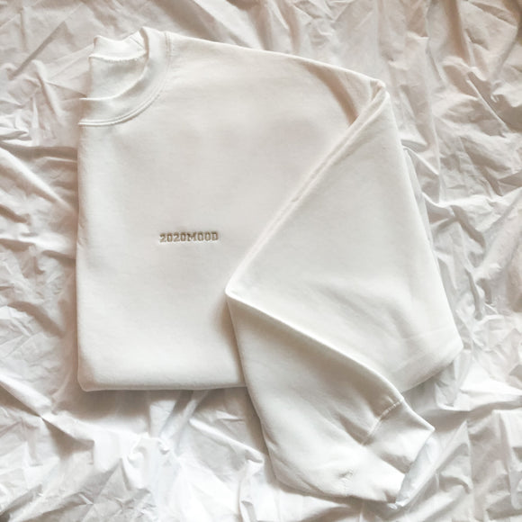 White Oversized 2020MOOD Crewneck
