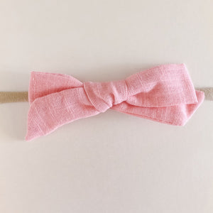 "4"" Hand Tied Linen Bow Headband"
