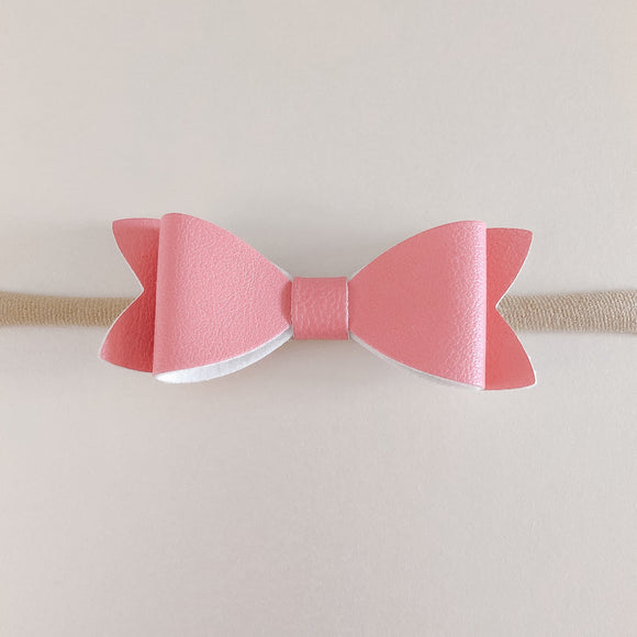 Mini Leather Bow Headbands